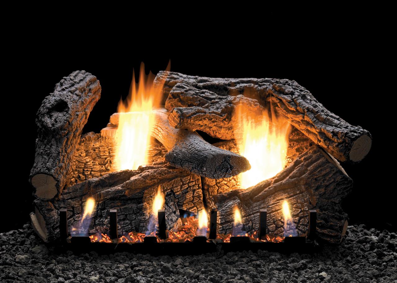 White Mountain Hearth Super Sassafras Log Set - Choice of Vented Burner