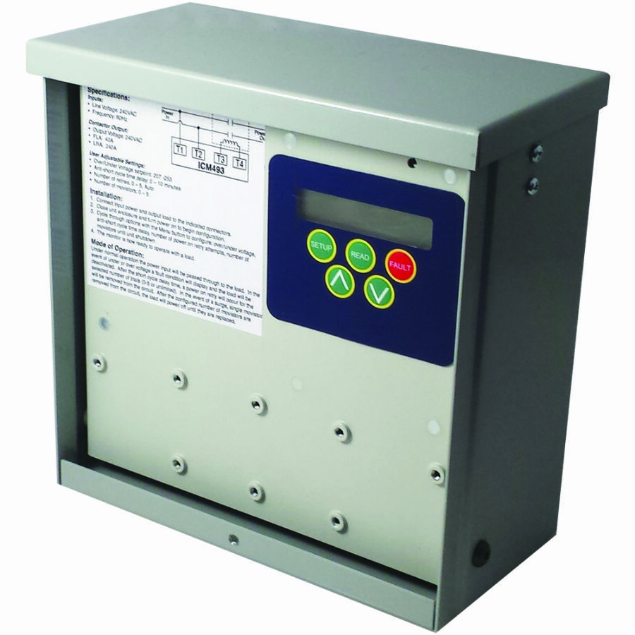 ICM493 Advanced Single Phase Surge Protector and Live Voltage Monitor for Mini Splits