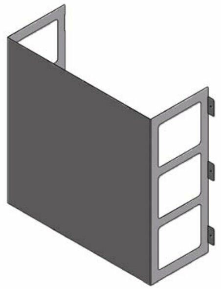 LG ZLABGP01A Low Ambient Wind Baffle Kit