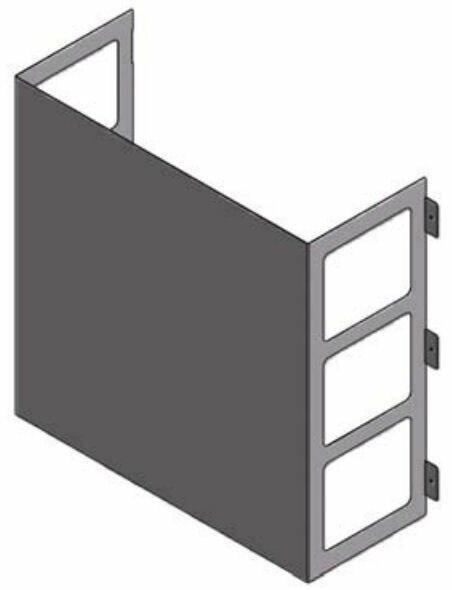 LG ZLABGP03A Low Ambient Wind Baffle Kit