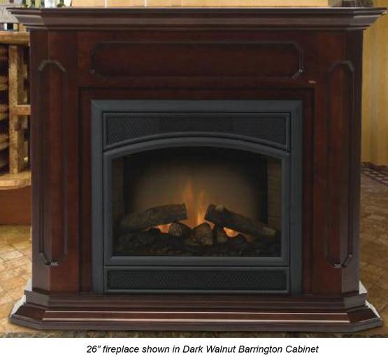 Monessen BWC400-DW Barrington Adjustable Wood Cabinet Surround - Dark Walnut