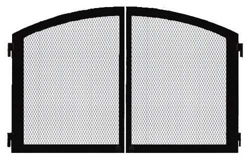 """Monessen DLC36CDBT 36"""" Cabinet Doors with Screens in Textured Black"""