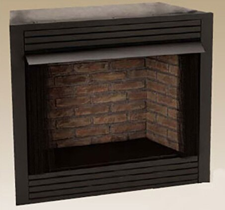 """Monessen GCUF32CF 32"""" Vent-Free Louvered Firebox with Cottage Clay Liner"""
