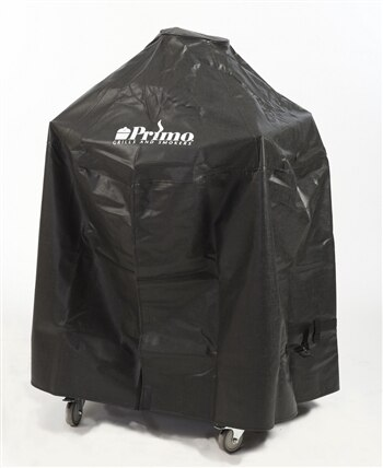 Primo PRM415 Grill Cover for Oval 200 in Cart with Side Tables