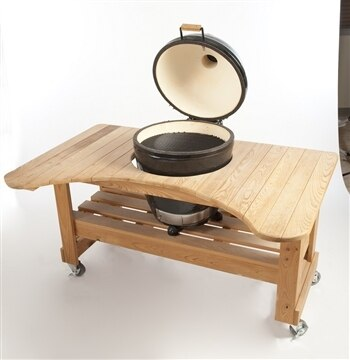 Primo PG00601 Cypress Table for Kamado Grill