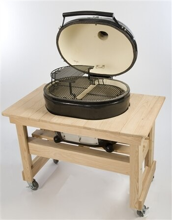 Primo PRM602 Compact Cypress Table for Oval 400 Grill