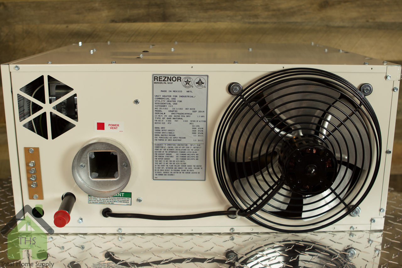 Reznor 30000 Btu V3 Power Vented Gas Fired Heater Udap30 Wiring Up Baseboard Udap 30 Unit