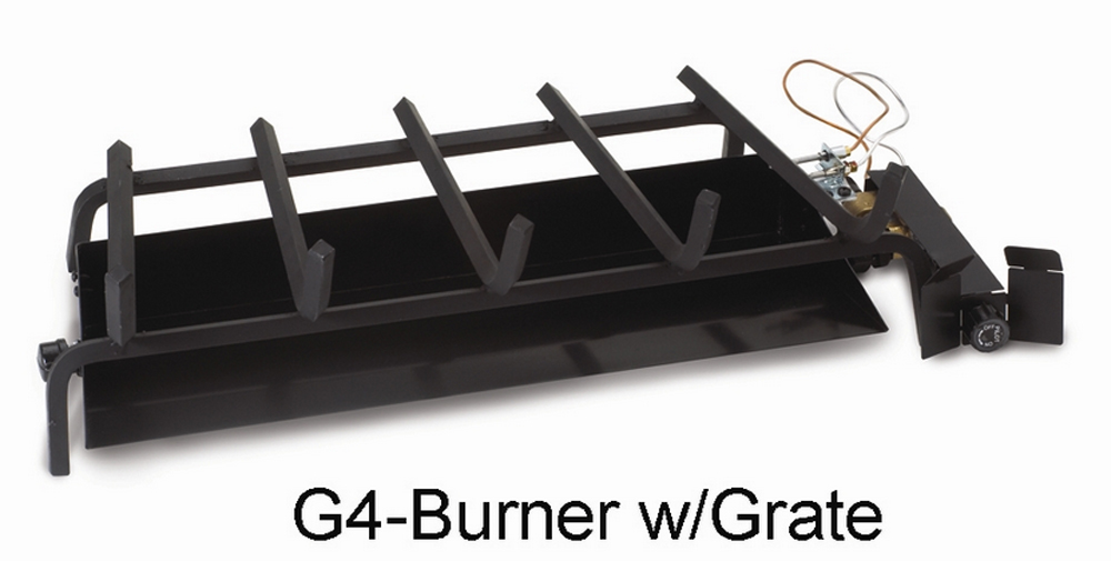 "RH Peterson Real-Fyre G4-18/20N 18"" / 20"" Glowing Ember Vented Burner with EPK-1N Valve - Natural Gas"