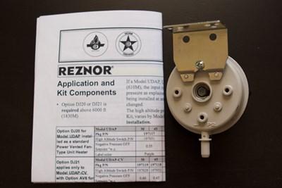 Reznor DJ20 197119 High Altitude Kit For Reznor Heaters