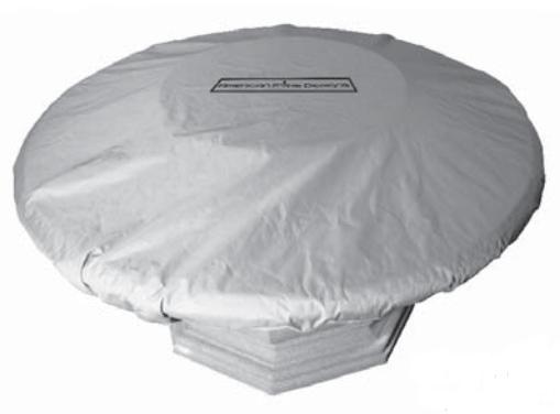 American Fyre Designs 8120BA Cosmopolitan Square Fire Table Cover in Black Lava