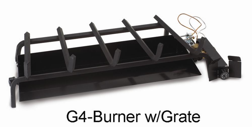 "RH Peterson Real-Fyre G4-24 24"" Glowing Ember Vented Burner with EPK-1P Valve - Liquid Propane"
