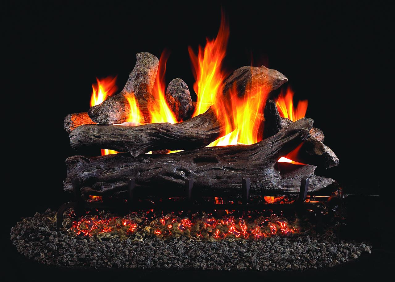 RH Peterson Real-Fyre Coastal Driftwood Log Set - Choice of Vented Burner and Valve Kit