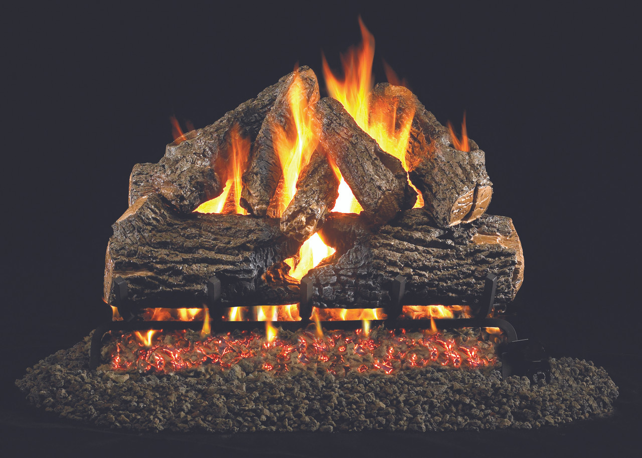 "RH Peterson Real-Fyre CHD-18/20 18"" / 20"" Charred Oak Vented Log Set"
