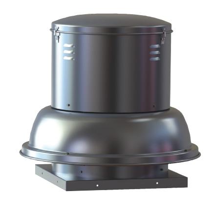 "S & P SDB14RH1S Downblast Belt Drive Centrifugal Roof Exhauster - 14"" Wheel, 115/208-230V"