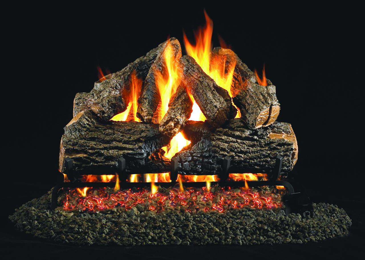 "RH Peterson Real-Fyre CHD-24 24"" Charred Oak Vented Log Set"