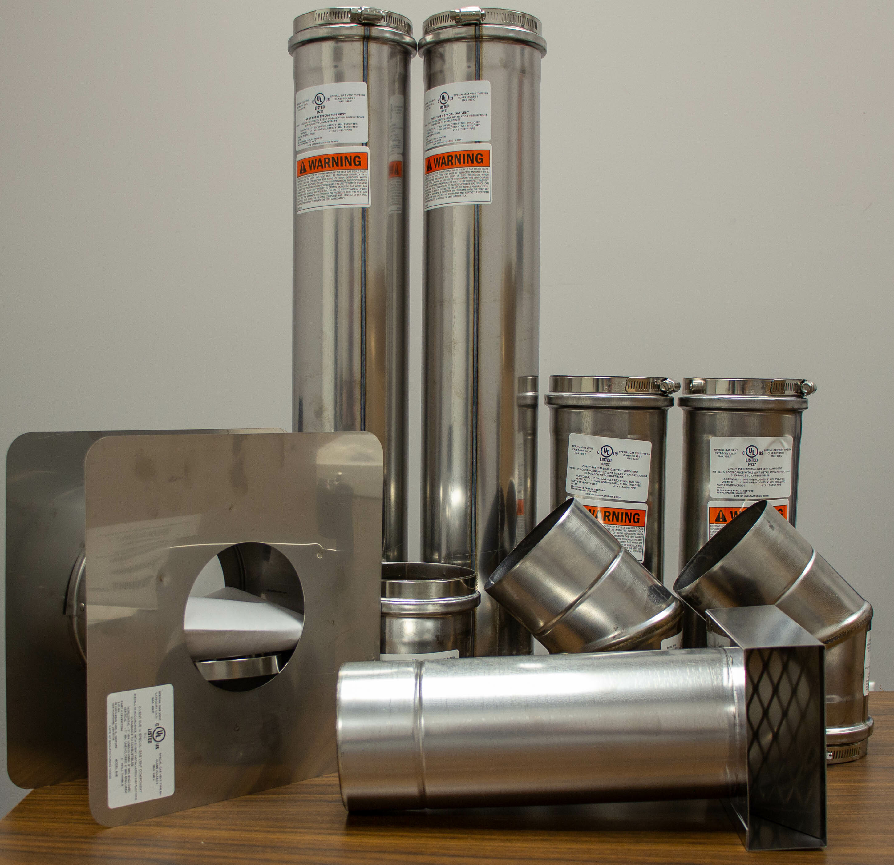 """4"""" Horizontal Unit Heater Vent Kit - Category III Stainless Steel"""