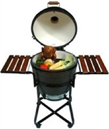 Primo PRM301 Wood Side Tables for Kamado Grill Cradle