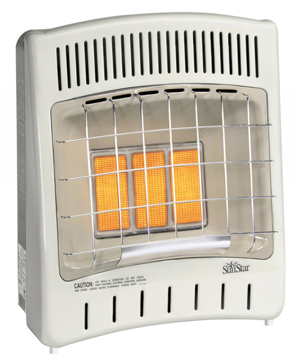 SunStar SC18M-1-LP 16,500 BTU Vent Free Infrared Manual Heater - LP