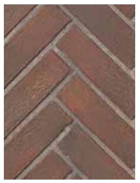 Superior BLK35OTR-H Old Town Red Herringbone Brick Ceramic Liner Kit