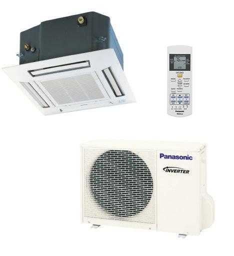 Panasonic E12RB4U 11900 BTU Single Zone Ceiling Cassette System - Heat Pump