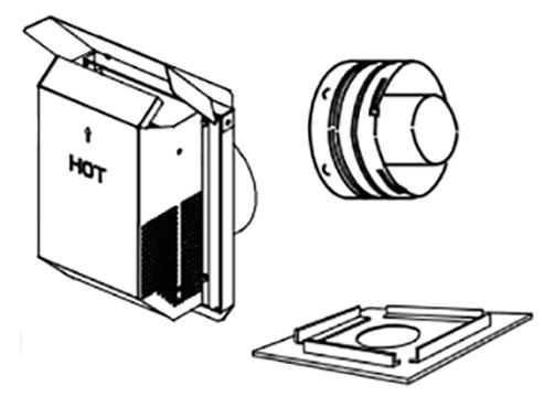 Superior SV4.5HT-2 Secure Vent Horizontal Square Termination Kit
