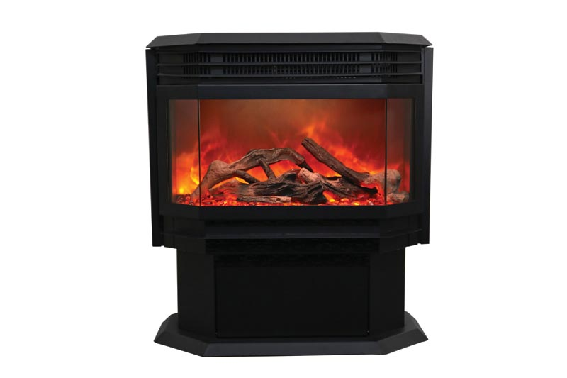 Amantii FS-26-922 Electric Free Standing Fireplace with Logset