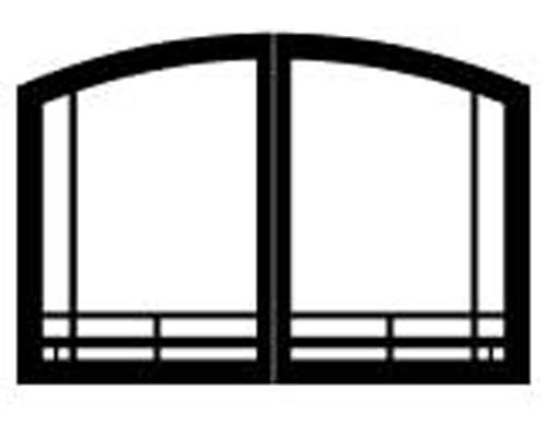 """White Mountain Hearth VBR32TMBL 32"""" Mission Arch Doors for Breckenridge Premium 32 in Matte Black"""