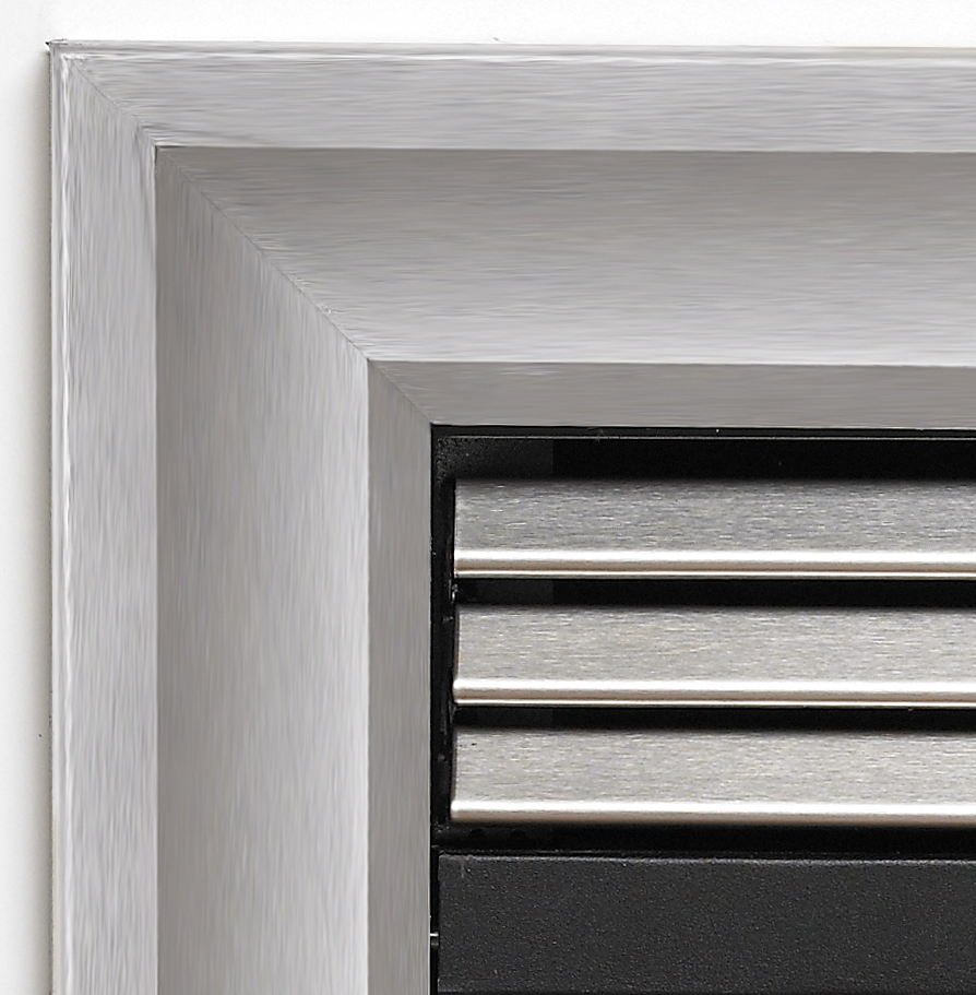 """White Mountain Hearth VBS36SSS 36"""" Outer Frame in Stainless Steel Breckenridge Deluxe 36"""