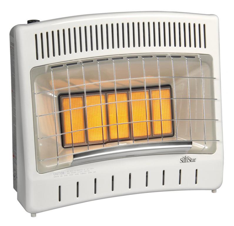 SunStar SC30M-1-LP 27000 BTU Vent Free Infrared Manual Heater - LP