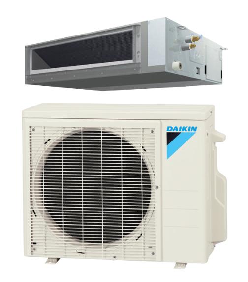 Daikin FDMQ09RVJU / RX09RMVJU 9000 BTU Concealed Ducted Ceiling Single Zone Mini Split with Heat Pump System