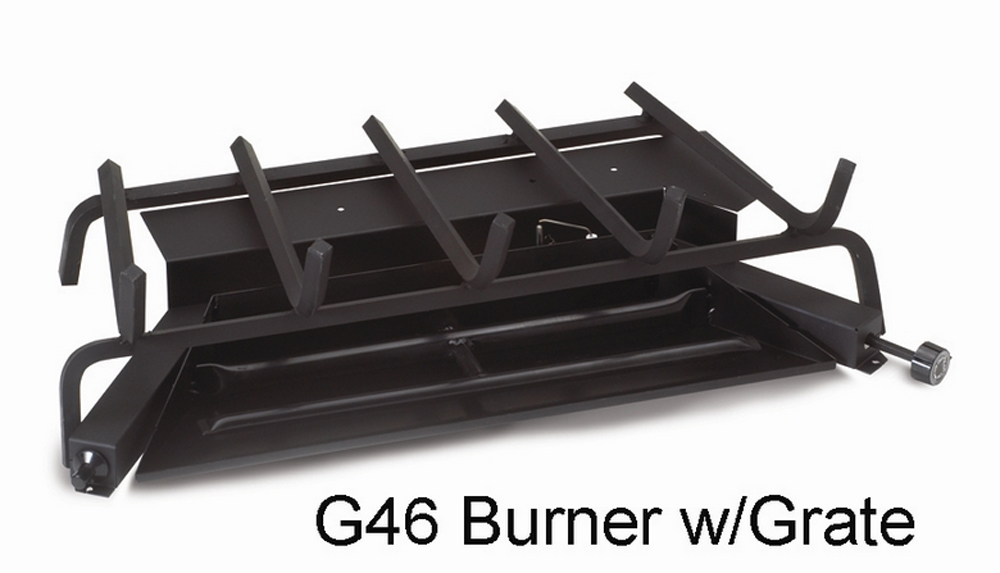 """RH Peterson Real-Fyre G4618/2002N 18"""" / 20"""" Triple T Vented Burner with Low Profile Electronic Pilot - Natural Gas"""
