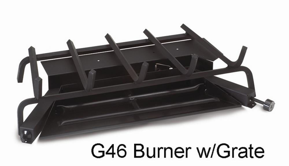 "RH Peterson Real-Fyre G462402P 24"" Triple T Vented Burner with Low Profile Electronic Pilot - Liquid Propane"