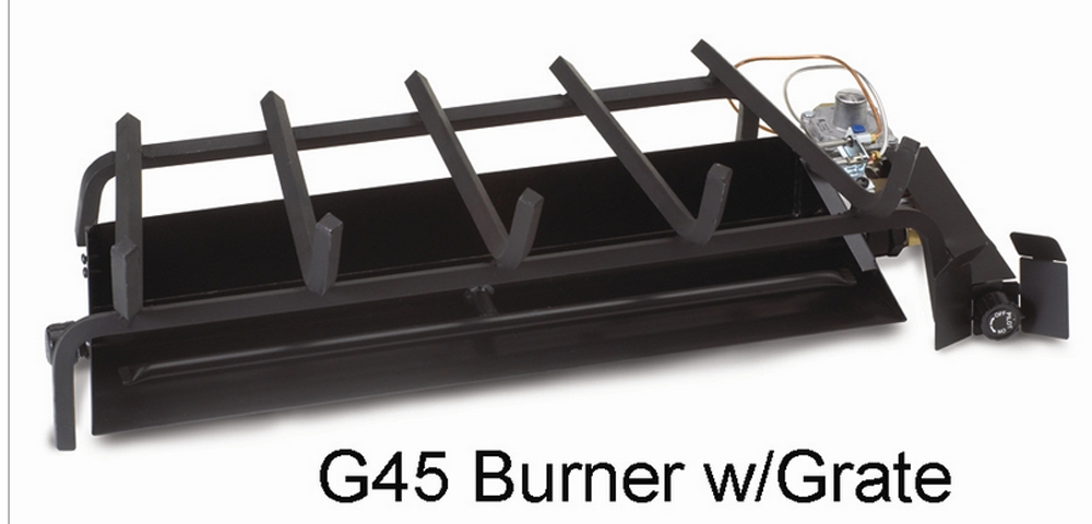 "RH Peterson Real-Fyre G452402P 24"" Triple T Vented Burner with Electronic Pilot Kit - Liquid Propane"