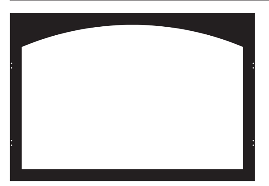 White Mountain Hearth VBY32TBL Arch Hinge Door Frame in Matte Black