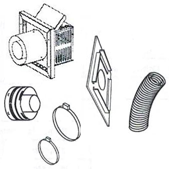 """Superior SFKIT48SS Secure Vent Flex Compact Termination Kit with 48"""" Compressed Vent"""