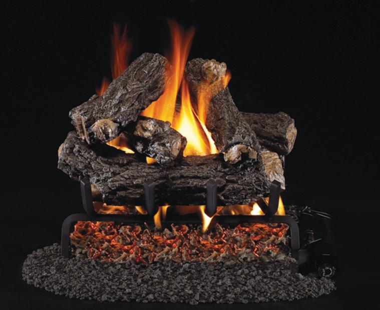 """RH Peterson Real-Fyre HRD-116 16"""" Rustic Oak Designer Vented Log Set"""