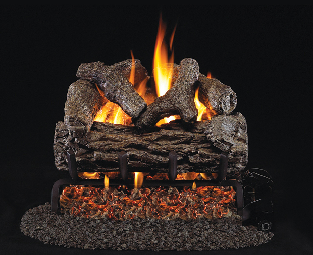 """RH Peterson Real-Fyre R-12 12"""" Golden Oak Replacement Logs for Vented Burners (LOGS ONLY)"""