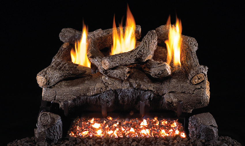 """RH Peterson Real-Fyre EFV16/18 16""""/18"""" Evening Fyre Replacement Logs for G18 Vent-Free Burners (LOGS ONLY)"""