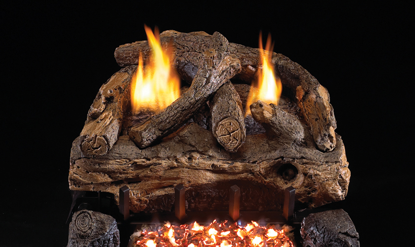 """RH Peterson Real-Fyre ESV30 30"""" Evening Fyre Split Replacement Logs for G18 Vent-Free Burners (LOGS ONLY)"""