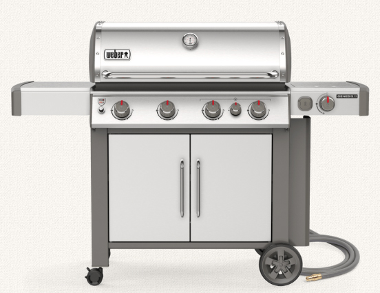 Weber 627006001 Genesis II S-435 Freestanding Gas Grill with Side Burner - Stainless - NG