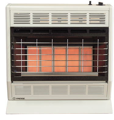 Empire Comfort Systems SR-30W Vent Free 30000 BTU Gas Heater with Manual Control
