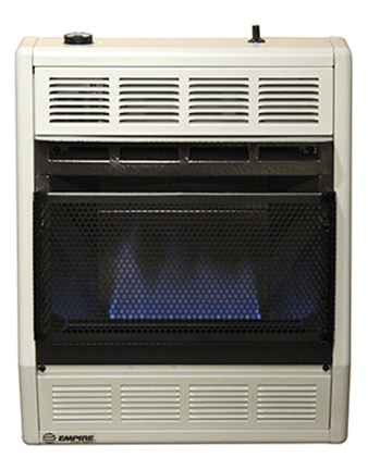 Empire Comfort Systems BF-20W 20,000 BTU Blue Flame Vent-Free Gas Heater with Thermostat