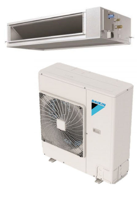 Daikin FBQ18PVJU / RZR18TAVJU 18000 BTU Class SkyAir Commercial DC Ducted Concealed Ceiling Cool Only 16.7 SEER Single Zone System