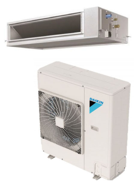 Daikin FBQ24PVJU / RZR24TAVJU 24000 BTU Class SkyAir Commercial DC Ducted Concealed Ceiling Cool Only 16.5 SEER Single Zone System