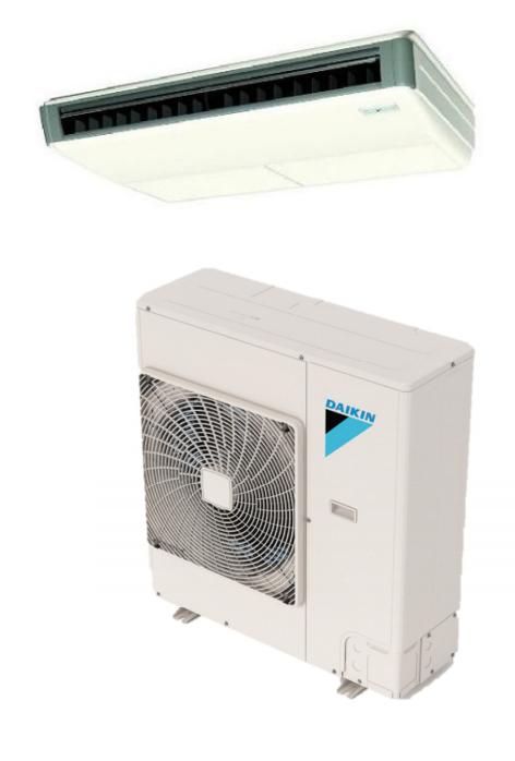 Daikin FHQ18PVJU / RZQ18TAVJU 18000 BTU Class SkyAir Commercial Ceiling Suspended Heat Pump 16.3 SEER Single Zone System