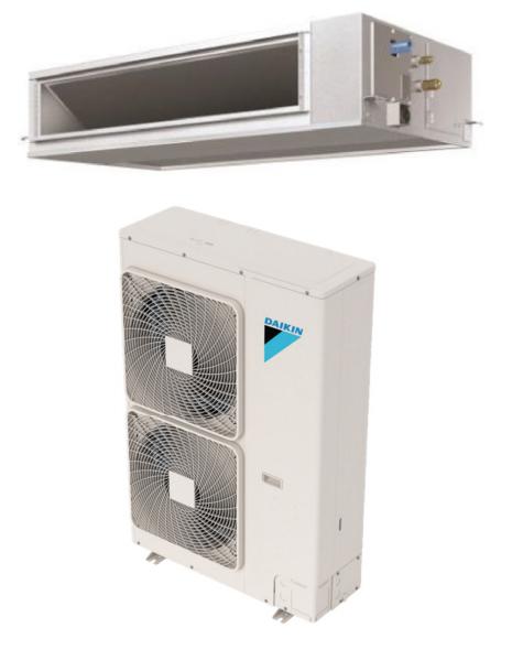 Daikin FBQ30PVJU / RZQ30TAVJU 30000 BTU Class SkyAir Commercial DC Ducted Concealed Ceiling Single Zone Heat Pump System