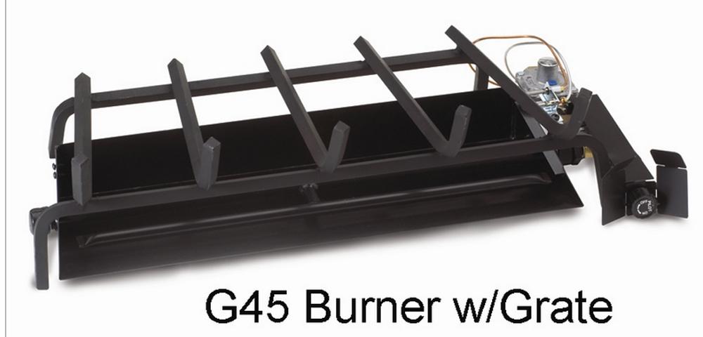 "RH Peterson Real-Fyre G4516/19 16/19"" Triple T Vented Burner - Liquid Propane with assembled SPK26 Safety Pilot"