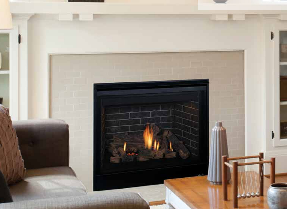 """Superior DRT3535DEN-C 35"""" Top/Rear Vent Pro Series Direct Vent Fireplace with Blower and Remote - Natural Gas"""