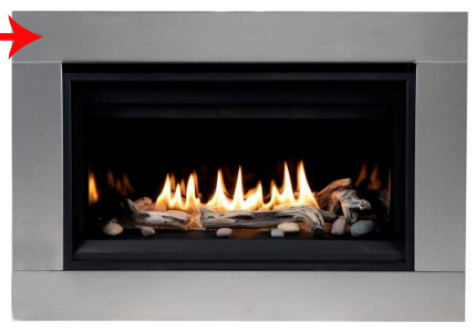Superior Ds Ss Rncl35 Stainless Decorative Surround For 35 Drl Linear Fireplaces