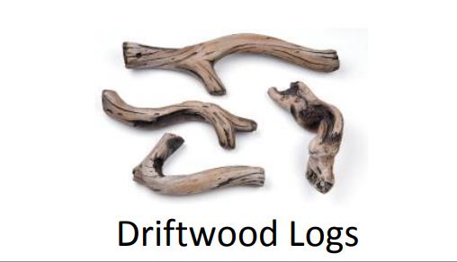 "Superior DWLS-RNCL45 Driftwood Log Set for DRL 45"""